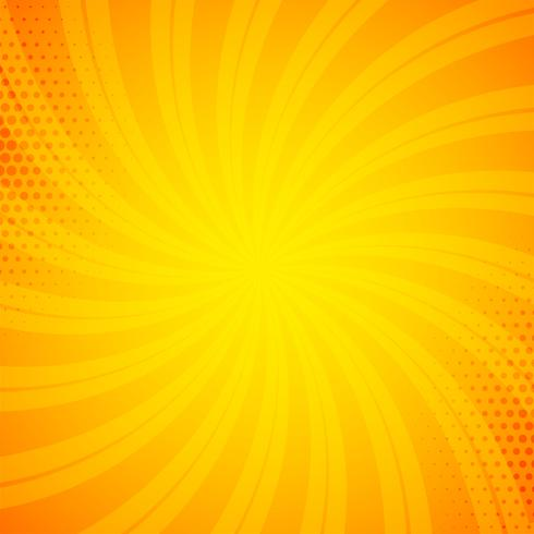 bright orange comic book background