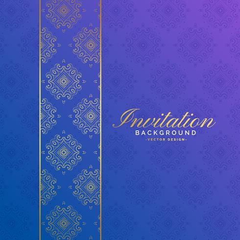premium invitation background with pattern