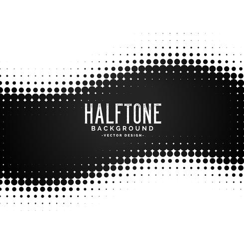 black halftone dots pattern background