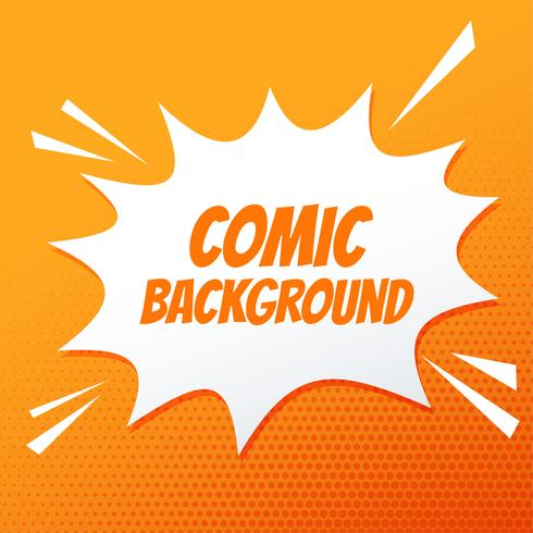 comic speech bubble burst on orange background