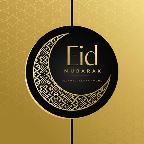 creative eid moon decorative golden design