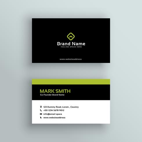 elegant modern business card vector design