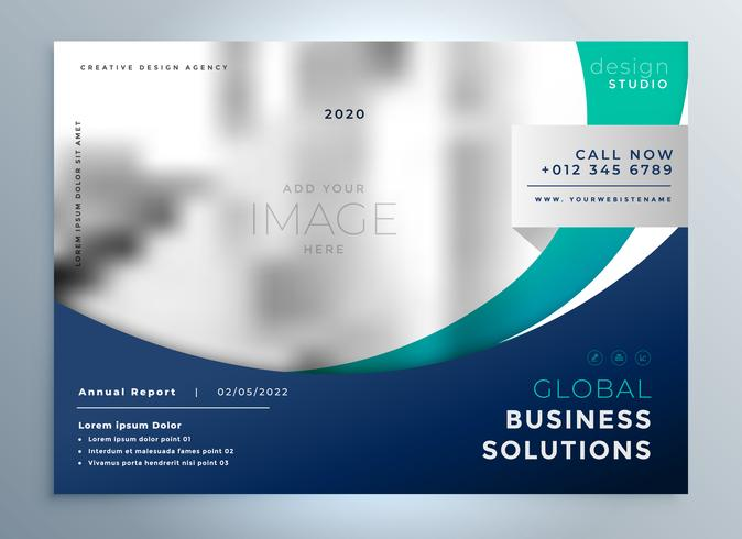 business brochure flyer modern presentation background