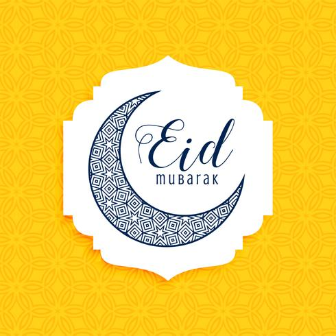 cresent decorative eid mubarak moon design