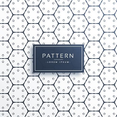 stylish hexagonal shape line pattern background