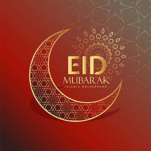 beautiful eid festival greeting card design
