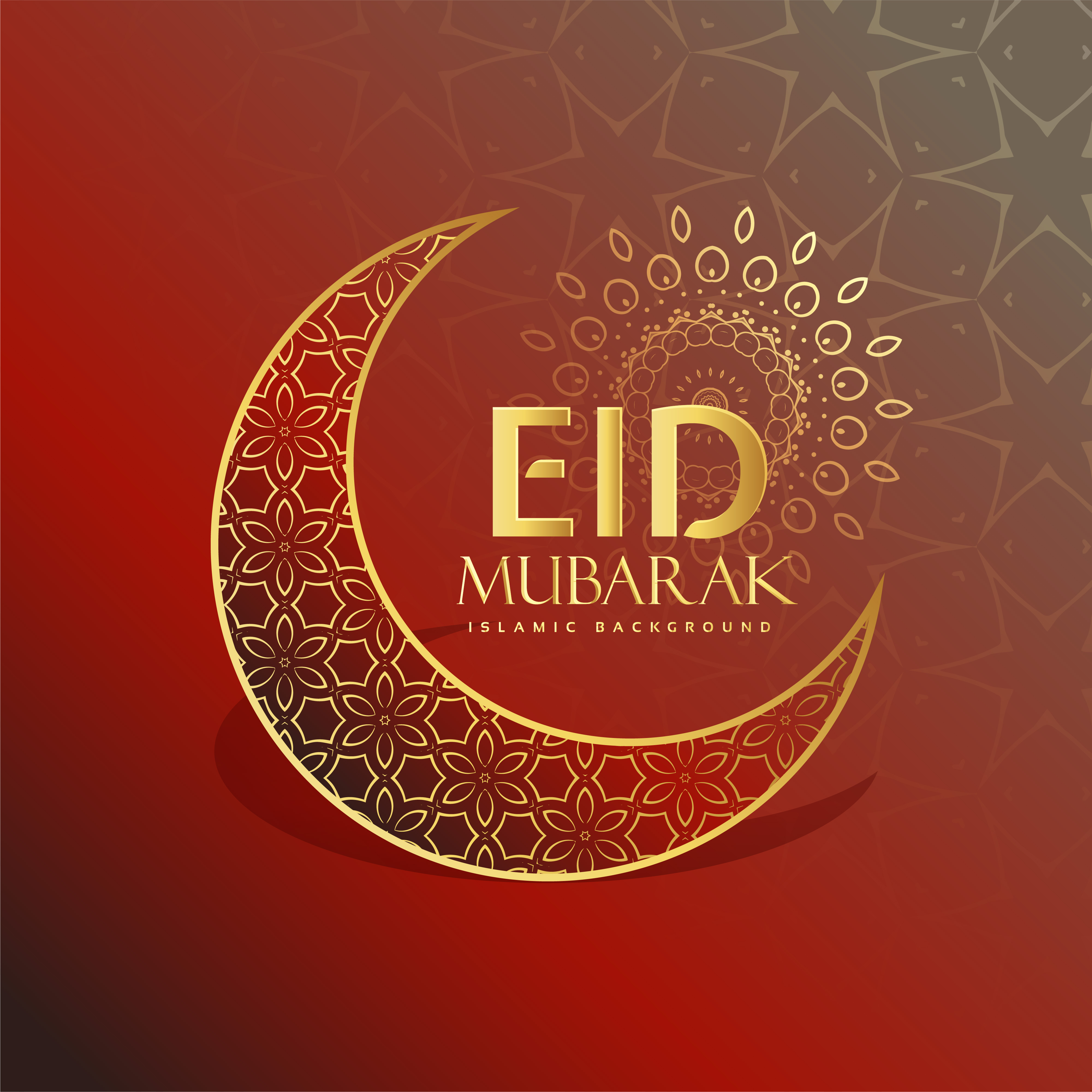 beautiful eid festival greeting card design  download