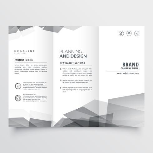 présentation de la brochure à trois volets de style subtil