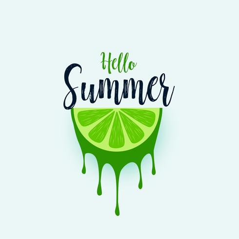 hello summer lime fruit background