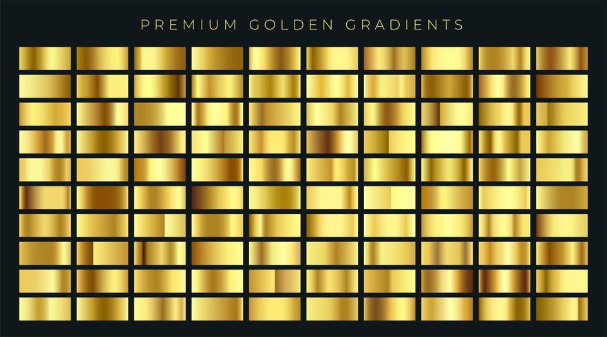 enorme grote verzameling gouden kleurovergangen achtergrondstalen