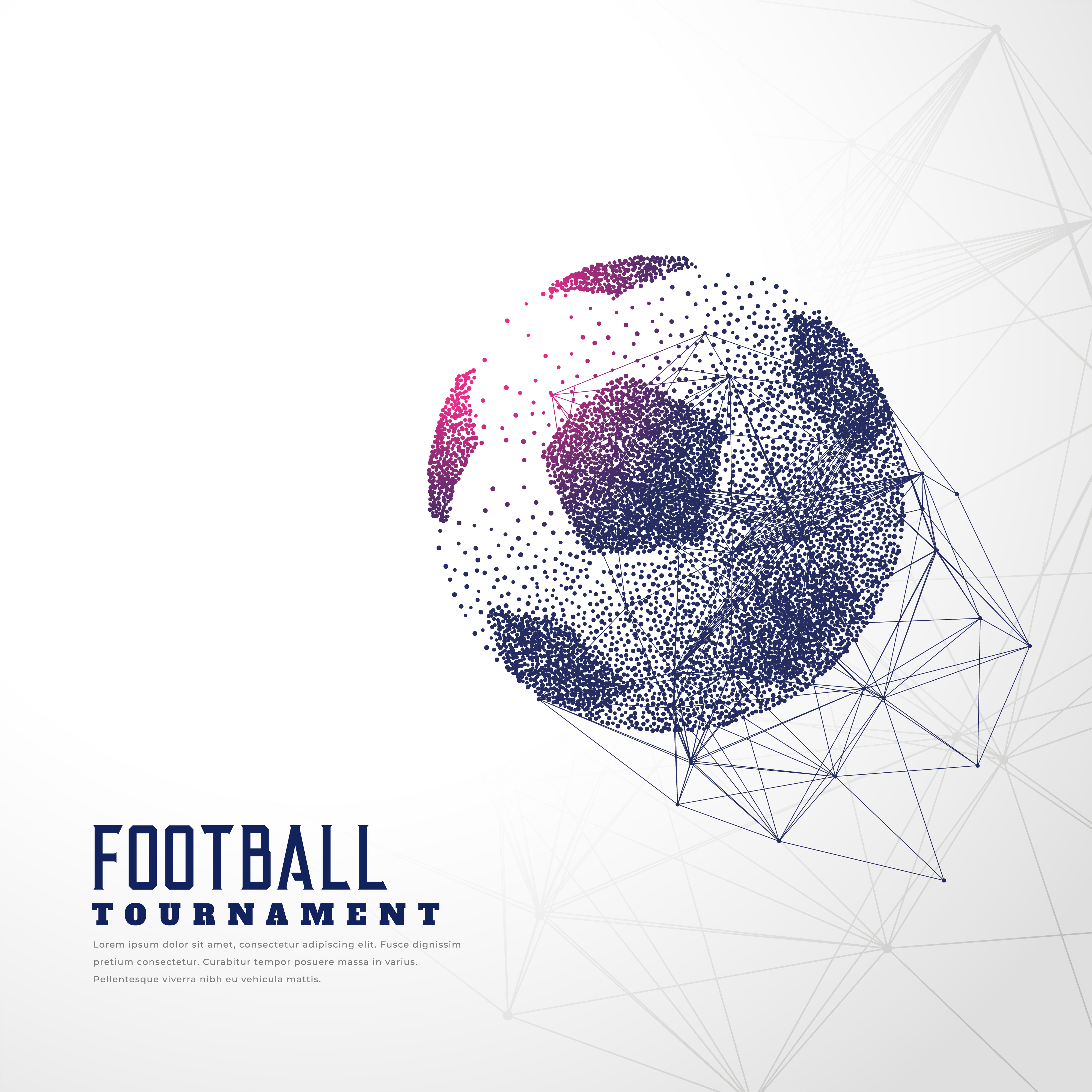 football made with particle dots and wire mesh - Download Free ...