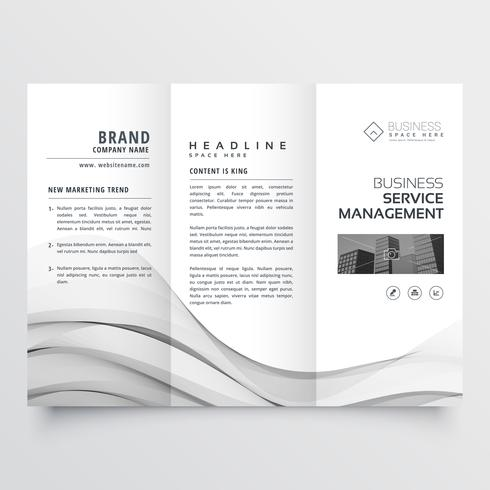 clean minimal trifold brochure template layout