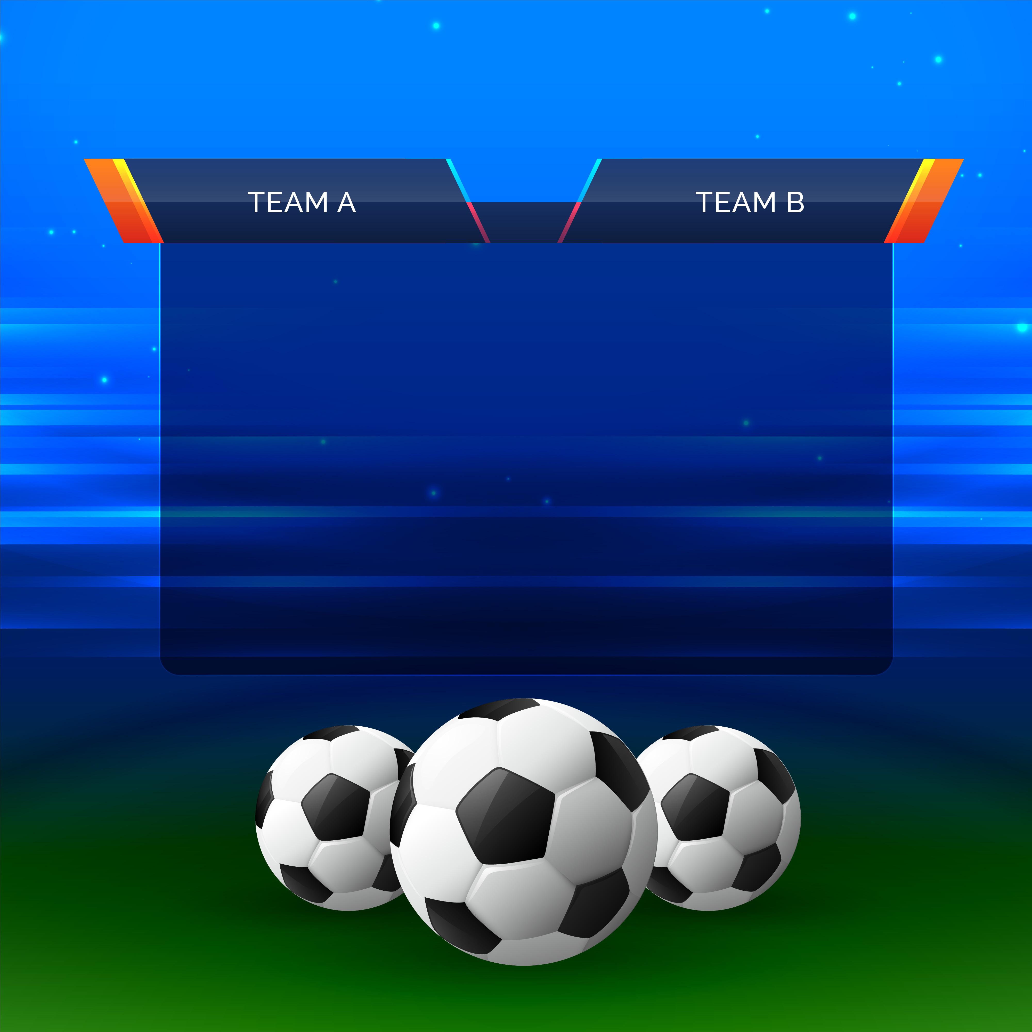 Football Sports Chart Design Background