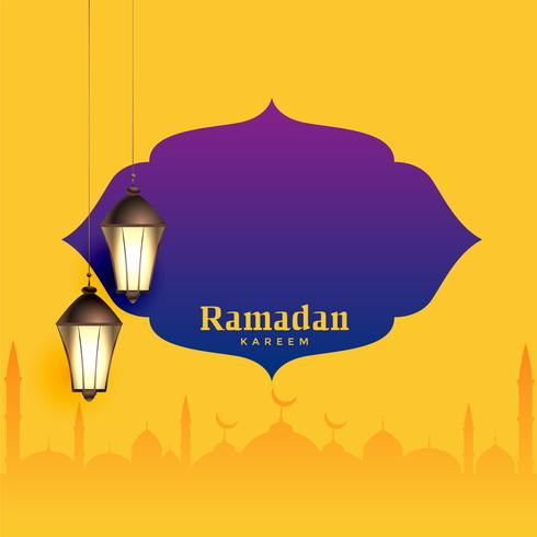 ramadan kareem greeting design with text space