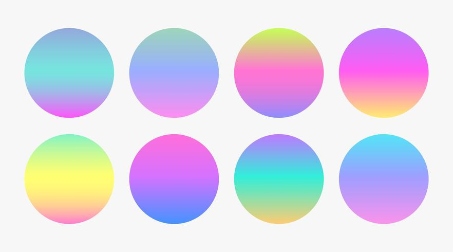 beautiful soft color gradient circles