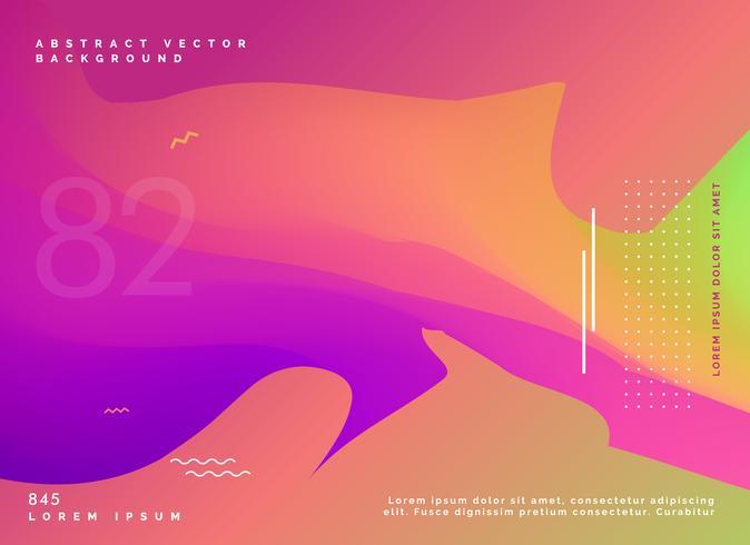 colorful gradient fluid background design