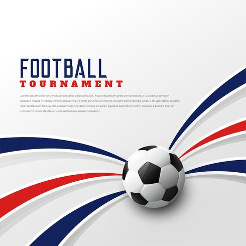 football tournament background design template