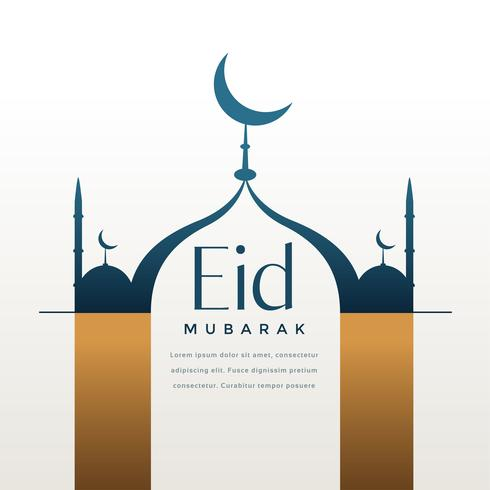 creative eid festival greeting with text space