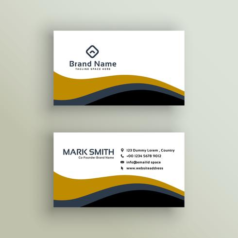 stylish wavy business card design