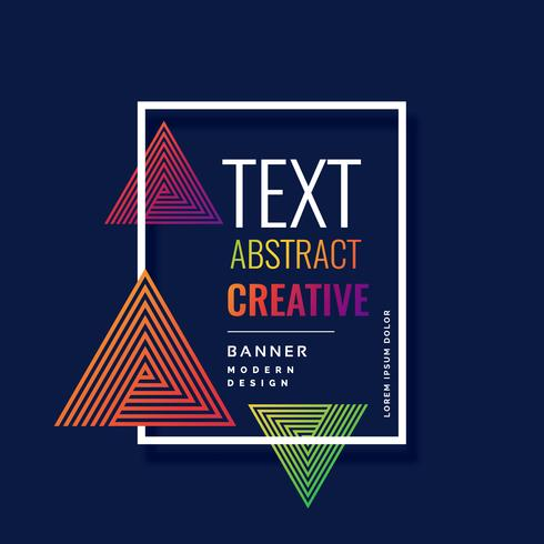 modern triangle shapes abstract banner