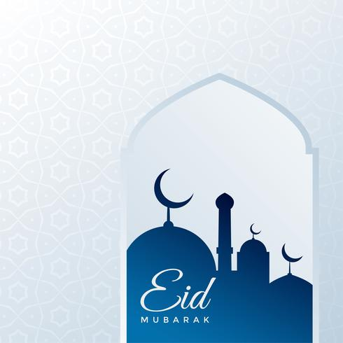 eid festival greeting background with mosque