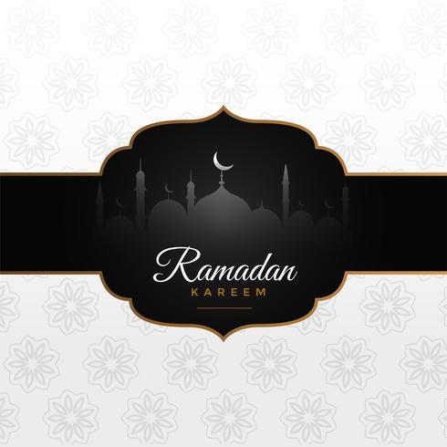 Ehrfürchtiger arabischer Ramadan Kareem Festival-Grußentwurf