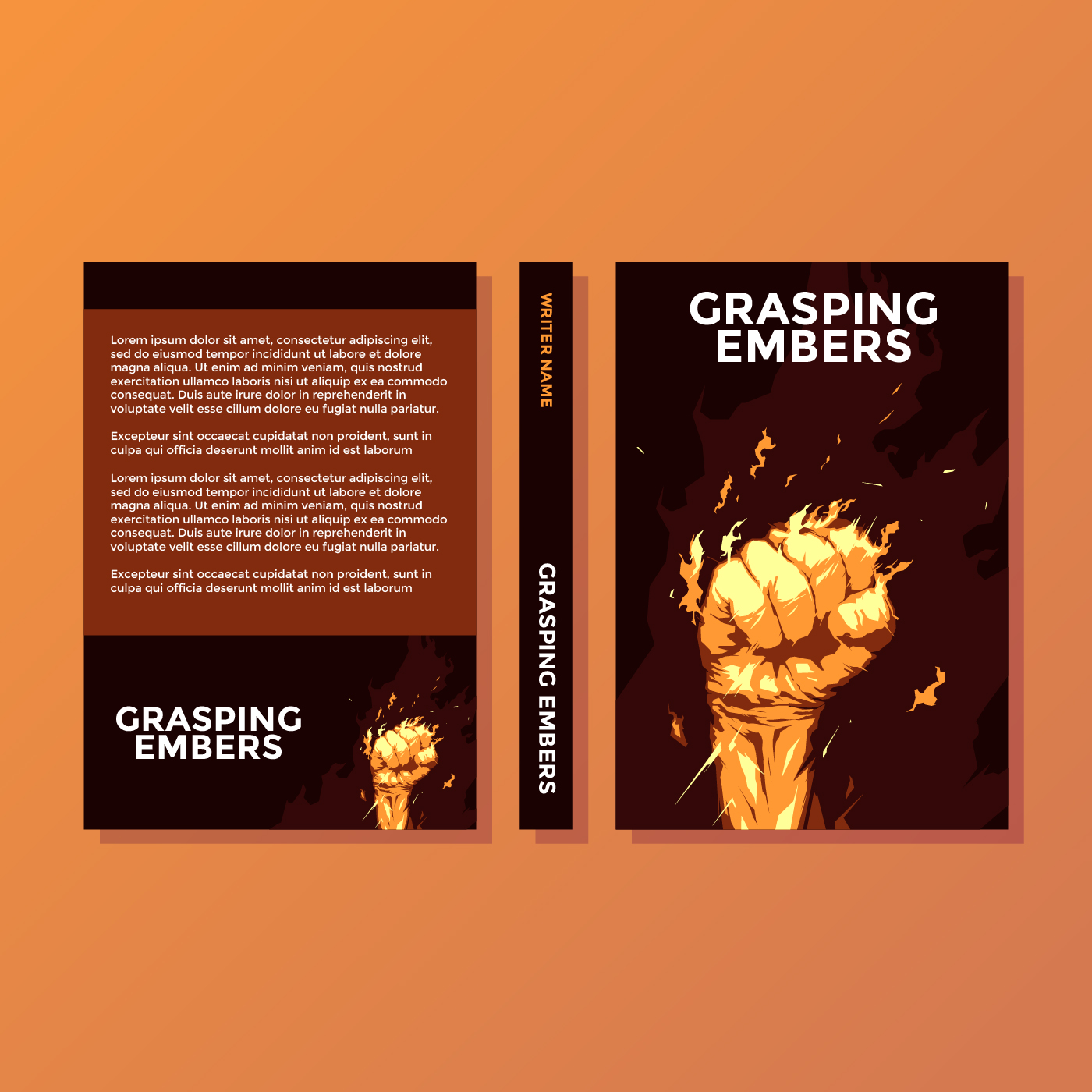 Grasping Embers Motivational Book Cover Vector
