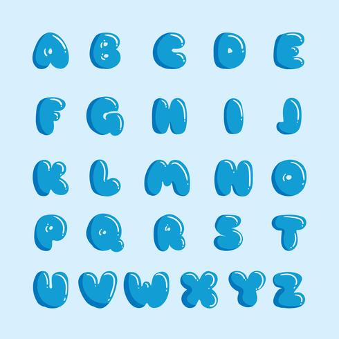 Alphabet de l'eau