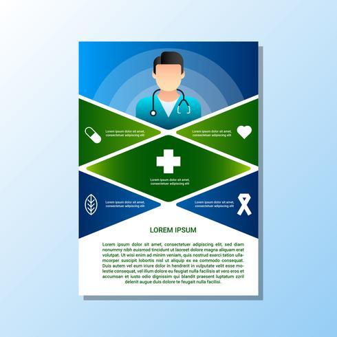 Brochure voor medische en gezondheidszorg concept sjablonen