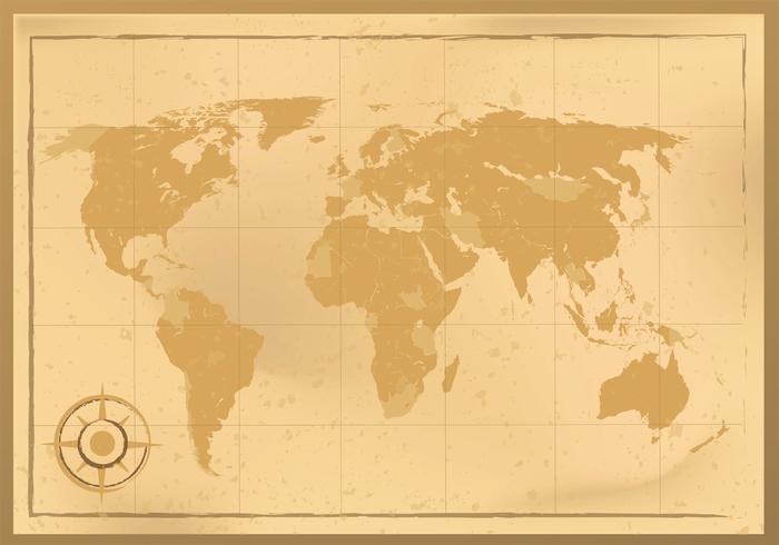 Ancient World Map Vector Design