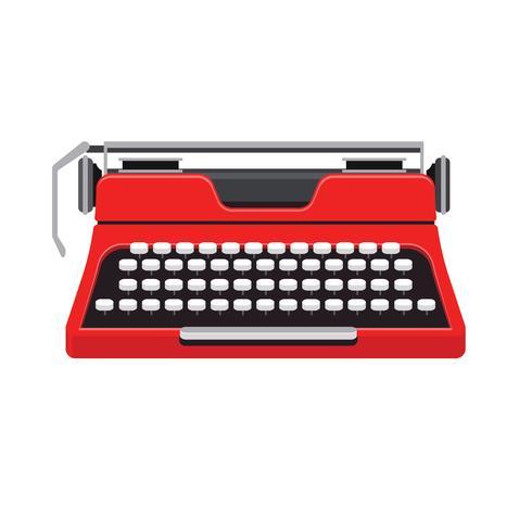 Vintage Schreibmaschinenmaschine vektor