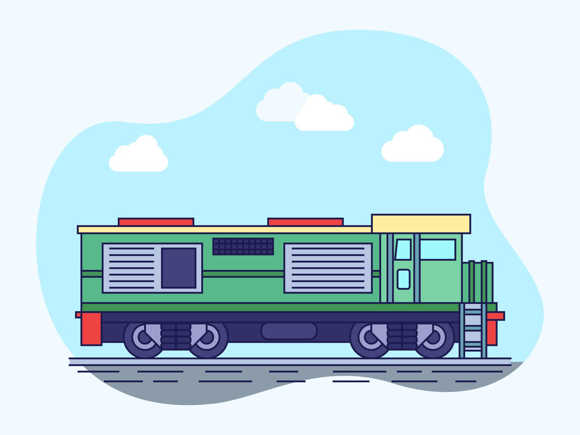 火車插圖 免費下載   天天瘋後製