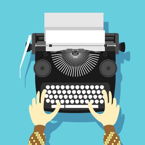 vector de máquina de escribir clásico negro