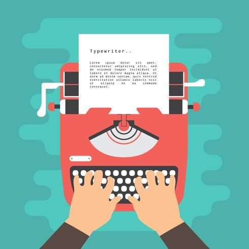 Ilustração vetorial de máquina de escrever