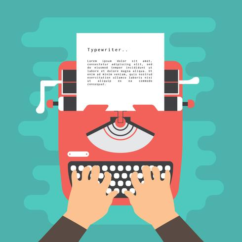 Typewriter Vector Illustration