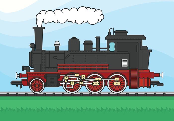 Ilustración de vector de locomotora