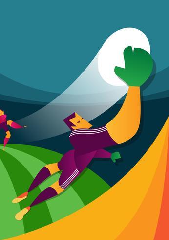 Ilustración del vector del jugador de fútbol de la Copa Mundial de México