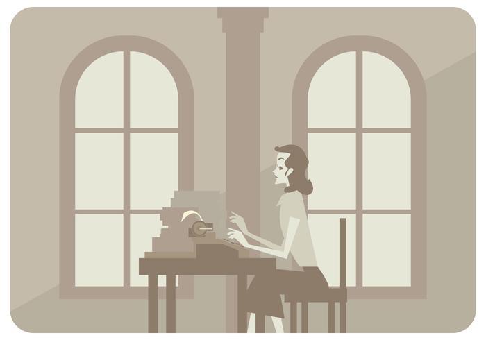 Klassischer Büro-Frauen-Vektor