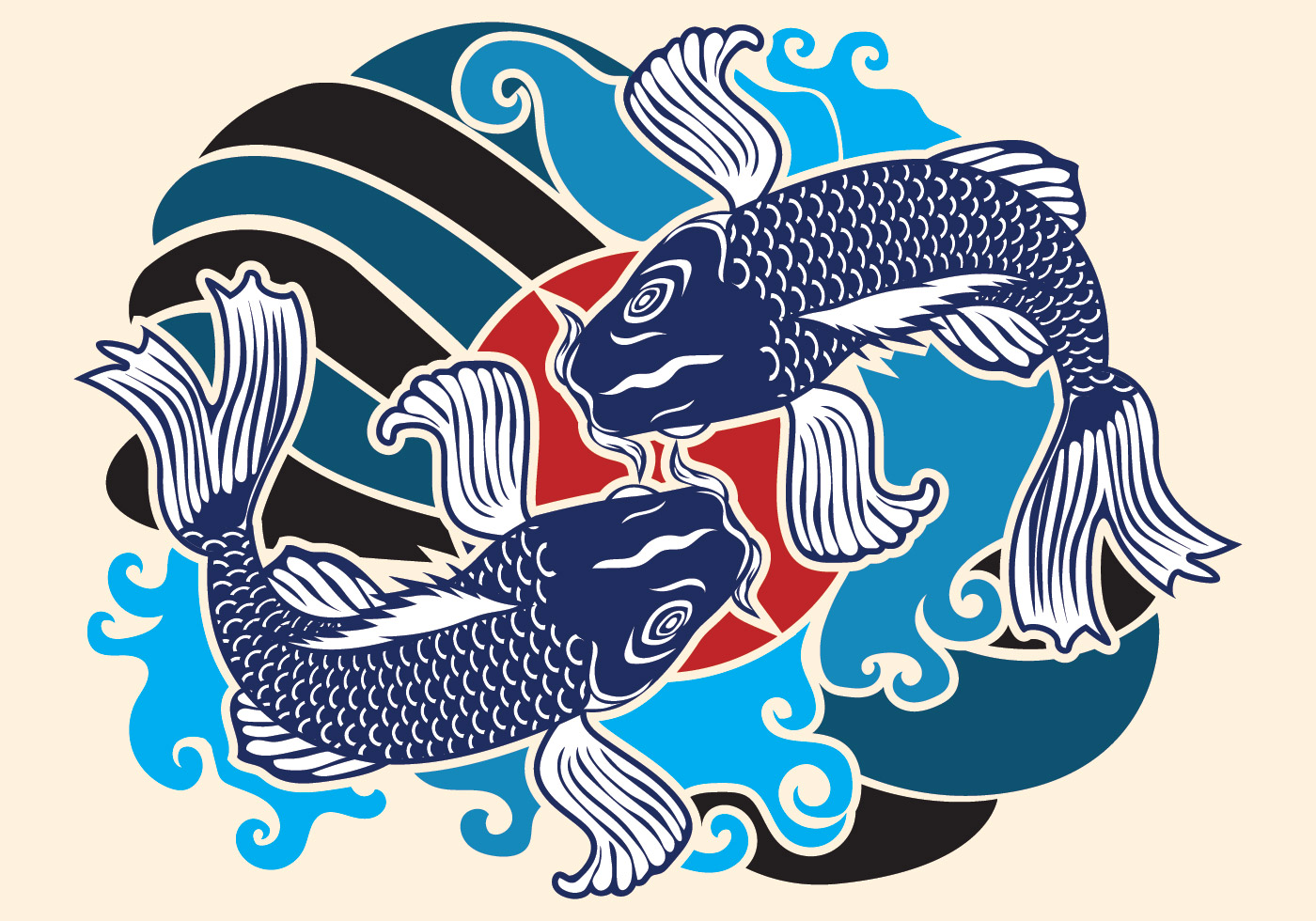Japanese Wave Pattern Free Vector Art - (21940 Free Downloads)