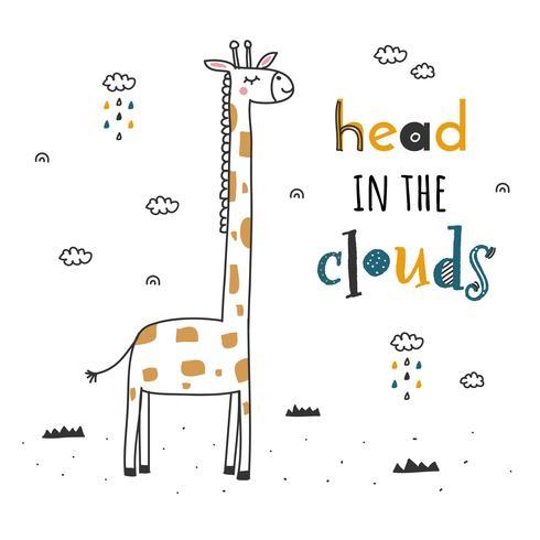 Kopf im Wolken-Vektor