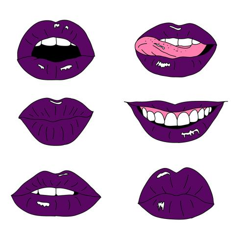 Hand drawn Lips Collection