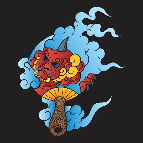 Illustrazione di vettore del tatuaggio giapponese