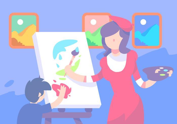 Peinture en classe