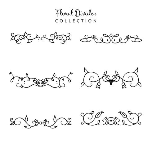Cute Floral Divider Collection Set