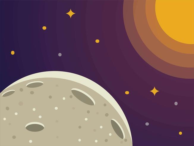 Moon Spacescape Illustration