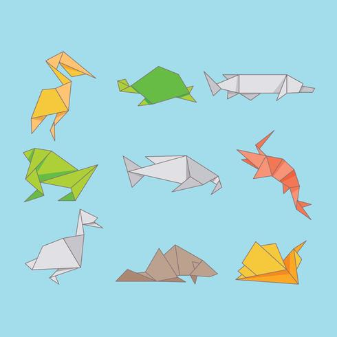 Origami Animals Fresh Water Download Free Vector Art Stock - Origamis-animales