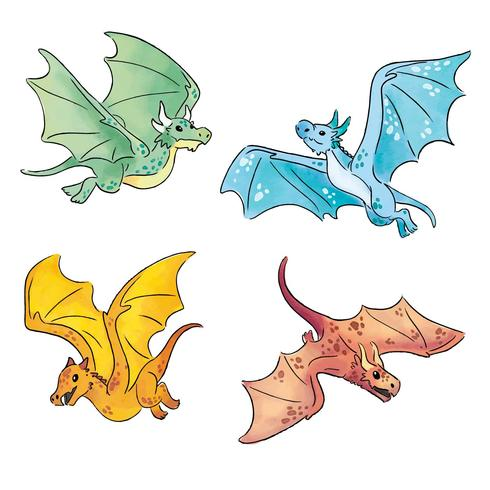 Collection de dragons mignons