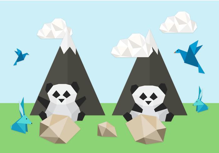 Origami dieren achtergrond illustratie