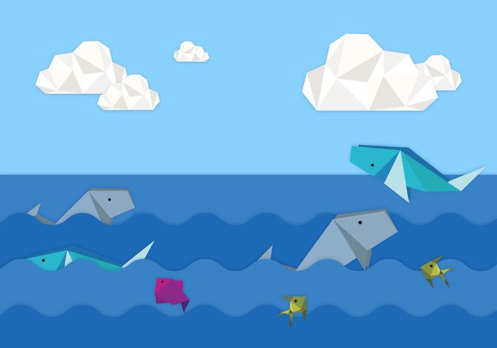 Origami Animals Background Illustration