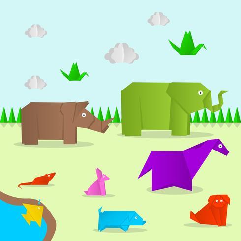 Origami dieren Vector